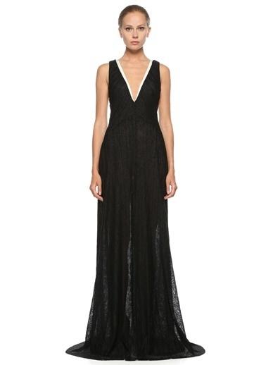 Galvan Uzun Abiye Elbise Siyah